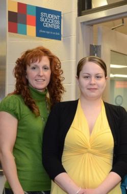 Stephanie O'Connor (right) with mentor Lori Davidson. Photo by Sandi Yanisko