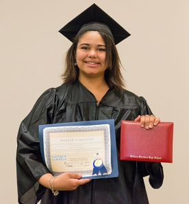 Brittany Harding of Hatboro-Horsham School District completed her high school requirements and received her diploma.