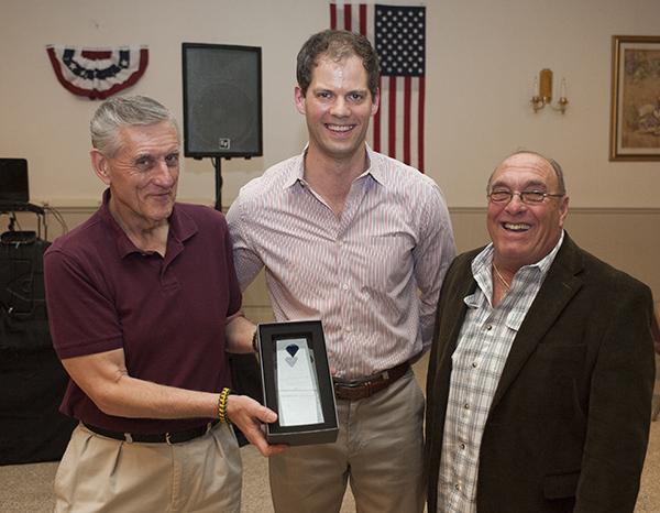 SVO Vice President Joe Long presents The American Award to Charlie Becker and Bill Pinkerton from Disabled American Veterans Chapter 25.