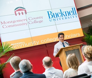 Montgomery and Bucknell alumnus Oscar Beteta. Photo by Sandi Yanisko