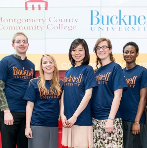 Bucknell Summer Scholars (from left): Brian Richmond, Mary Colleen Watson, Yinquing (Lindsay) Pan, Margaret Crush, and Summer Grenyion-Smith. Jeremy Lowery is not pictured. Photo by Sandi Yanisko