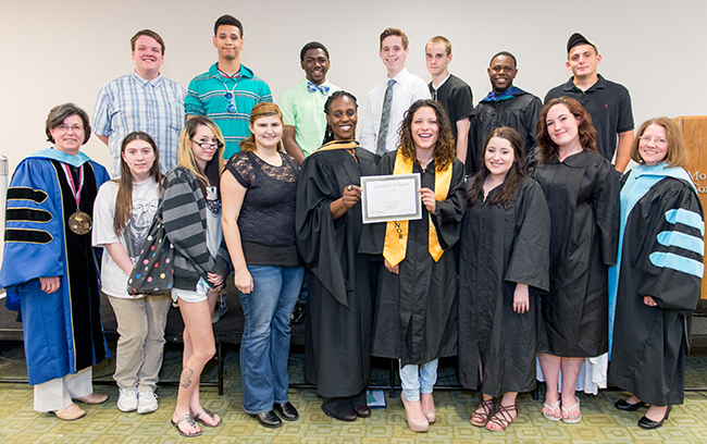 Fifteen of Montgomery's students were recognized as Gateway Achievers by the Gateway to College National Network.